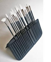 Black Nylon Fabric Brush Case/Easel